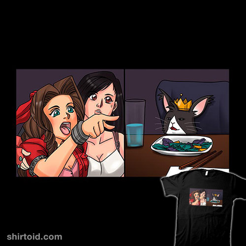 Aerith Yelling at a Cait Sith