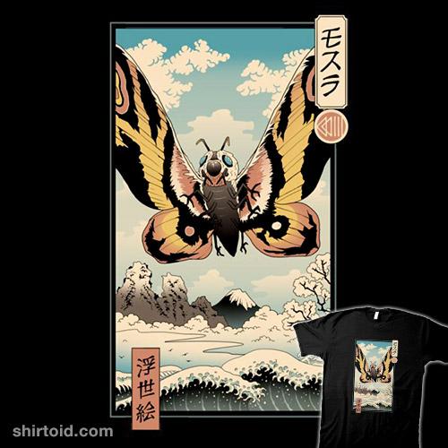 Ancient Moth Ukiyo-e
