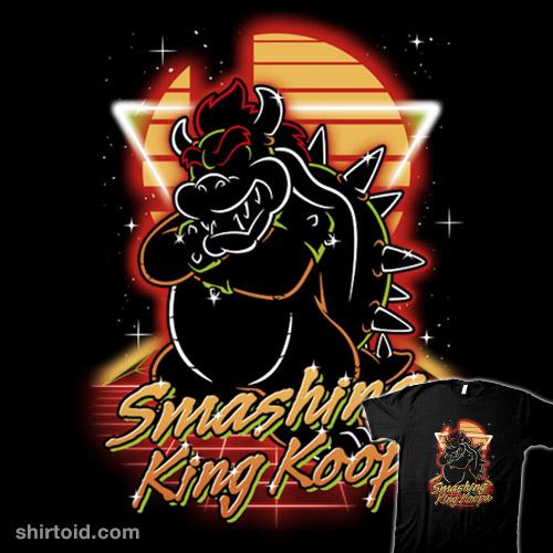 Retro Smashing King Koopa