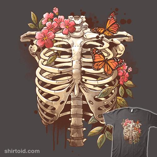 Spring skeleton watercolor