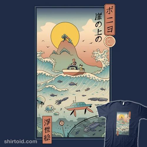 Ukiyo-e by the Sea