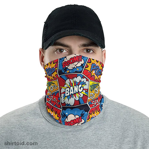 Comic Boom Neck Gaiter
