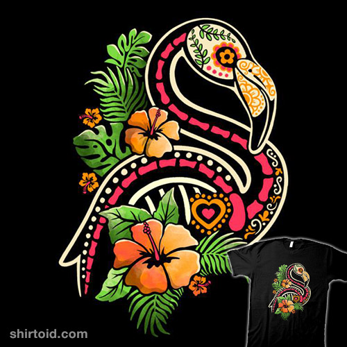 Flamingo Tropical Calavera