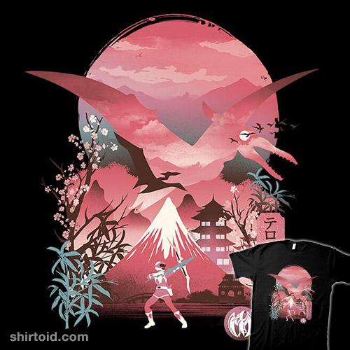Pink Ranger Ukiyo-e