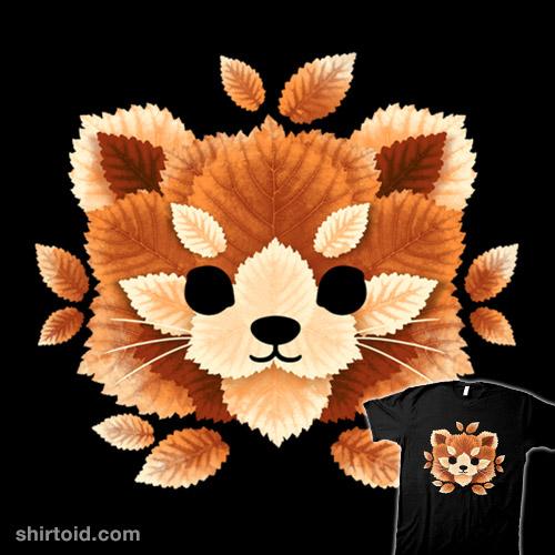 Red panda of leaves