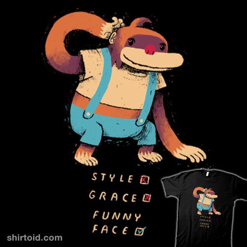 He has no style, he has no grace…