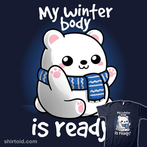 Polar bear winter body