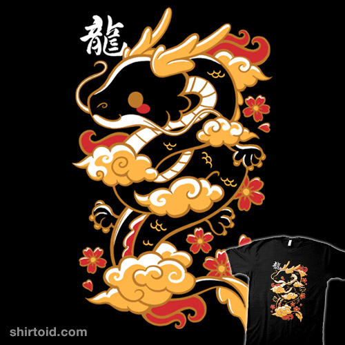 Kawaii Golden Dragon