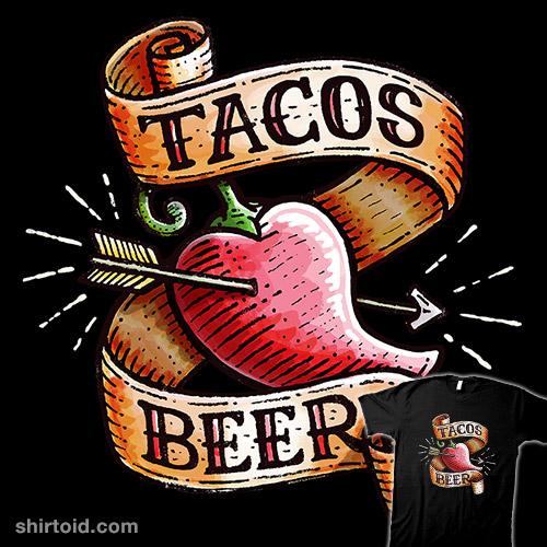 Tacos Heart Beer