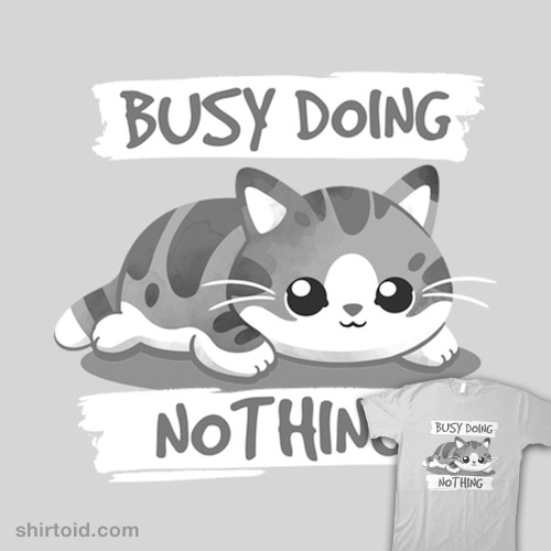 Cat busy doing nothing
