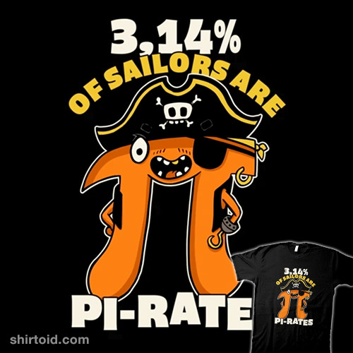 3,14% of Sailors are Pi Rates