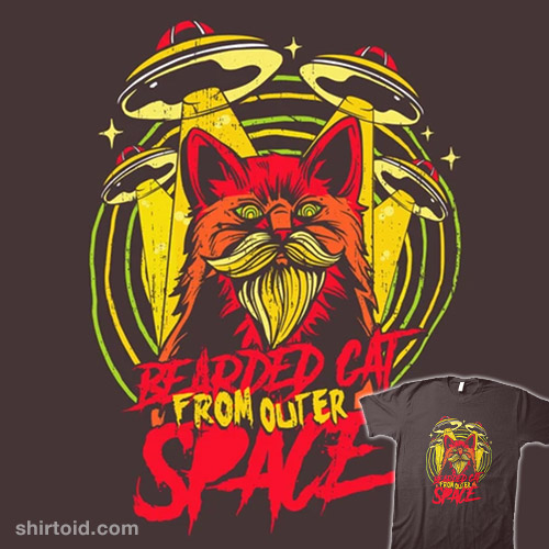 Bearded Cat From Outer Space