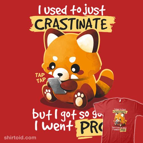 Red panda procrastinator