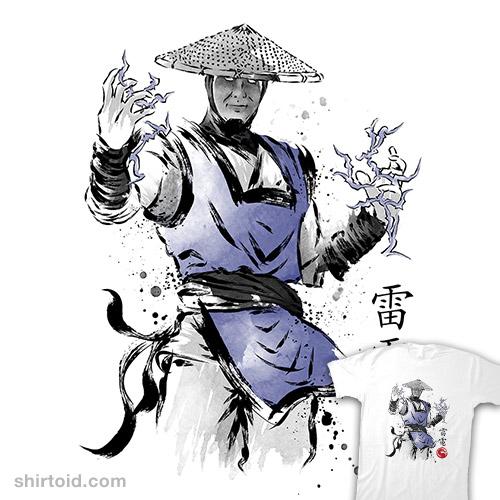 Thunder God Sumi-e