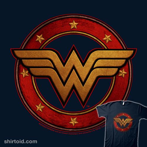 Wonder Woman Metal Logo