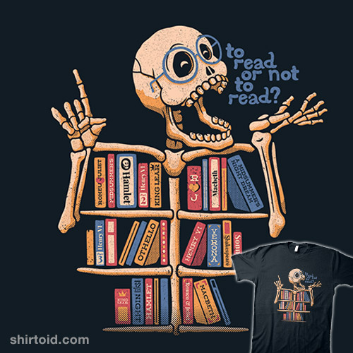 Skeleton Shelf Book Lover